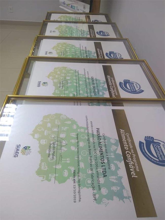 Renovação do certificado Alimento Confiável